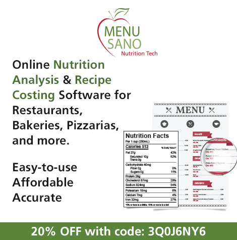 MenuSano Nutrition Analysis Software